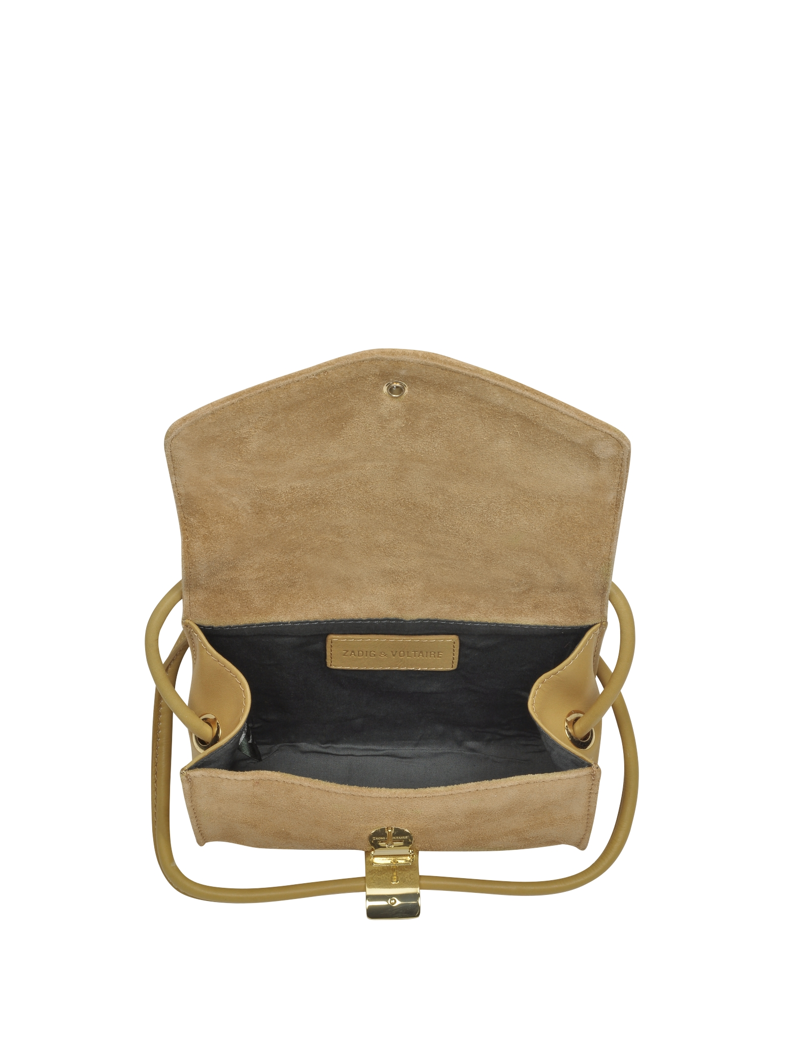 Zadig Amp Voltaire Suede And Calf Leather Box Bag In Mustard
