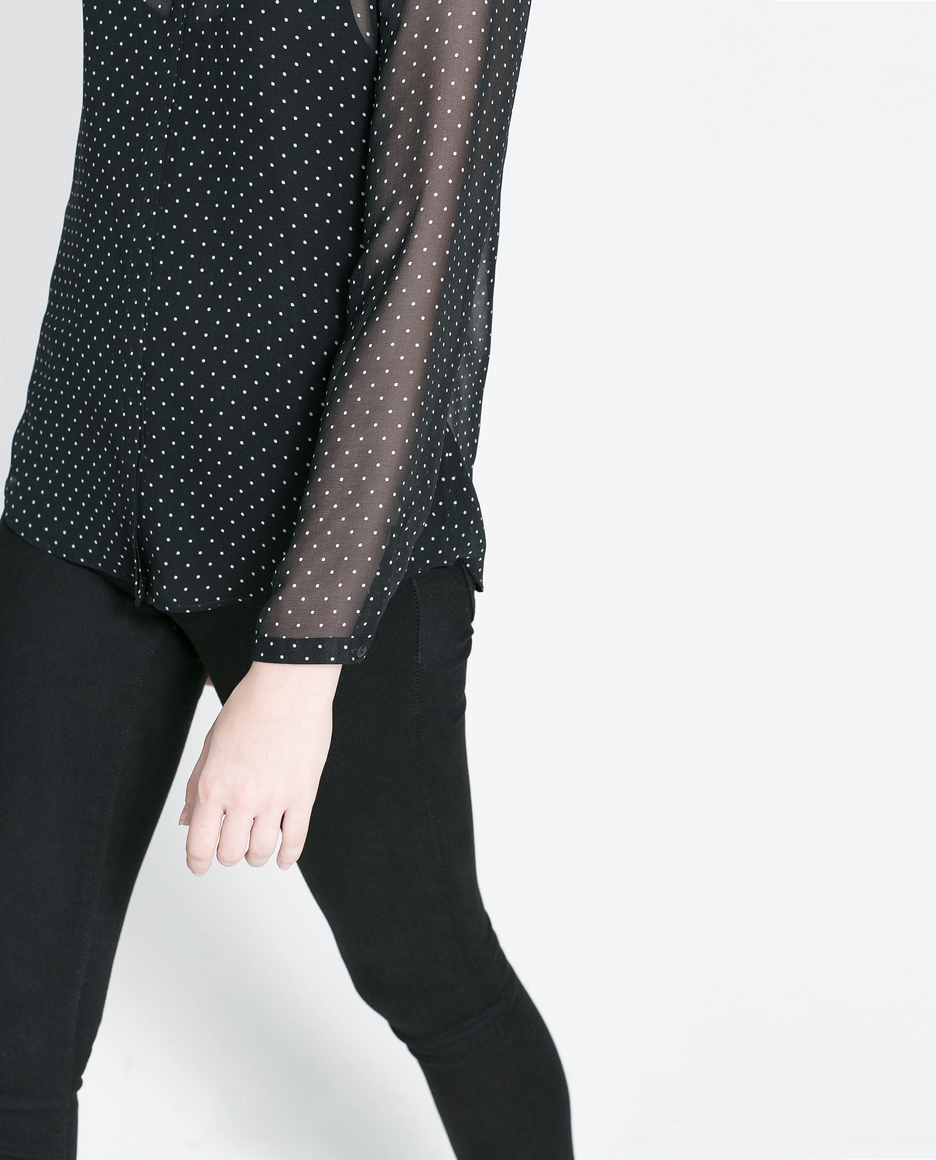 Zara Sheer Black Blouse 33