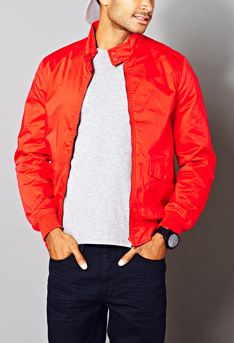 Forever 21 Retro Bomber Jacket Youu0026#39;ve Been Added To The Waitlist in Red for Men | Lyst
