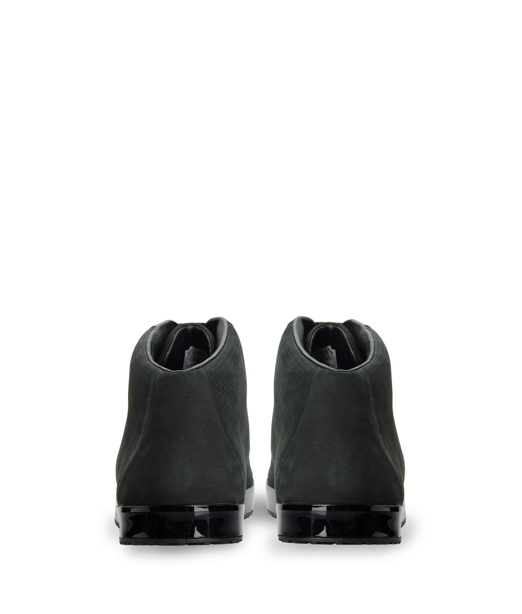 armani jeans high top sneaker in black for men lyst. Black Bedroom Furniture Sets. Home Design Ideas