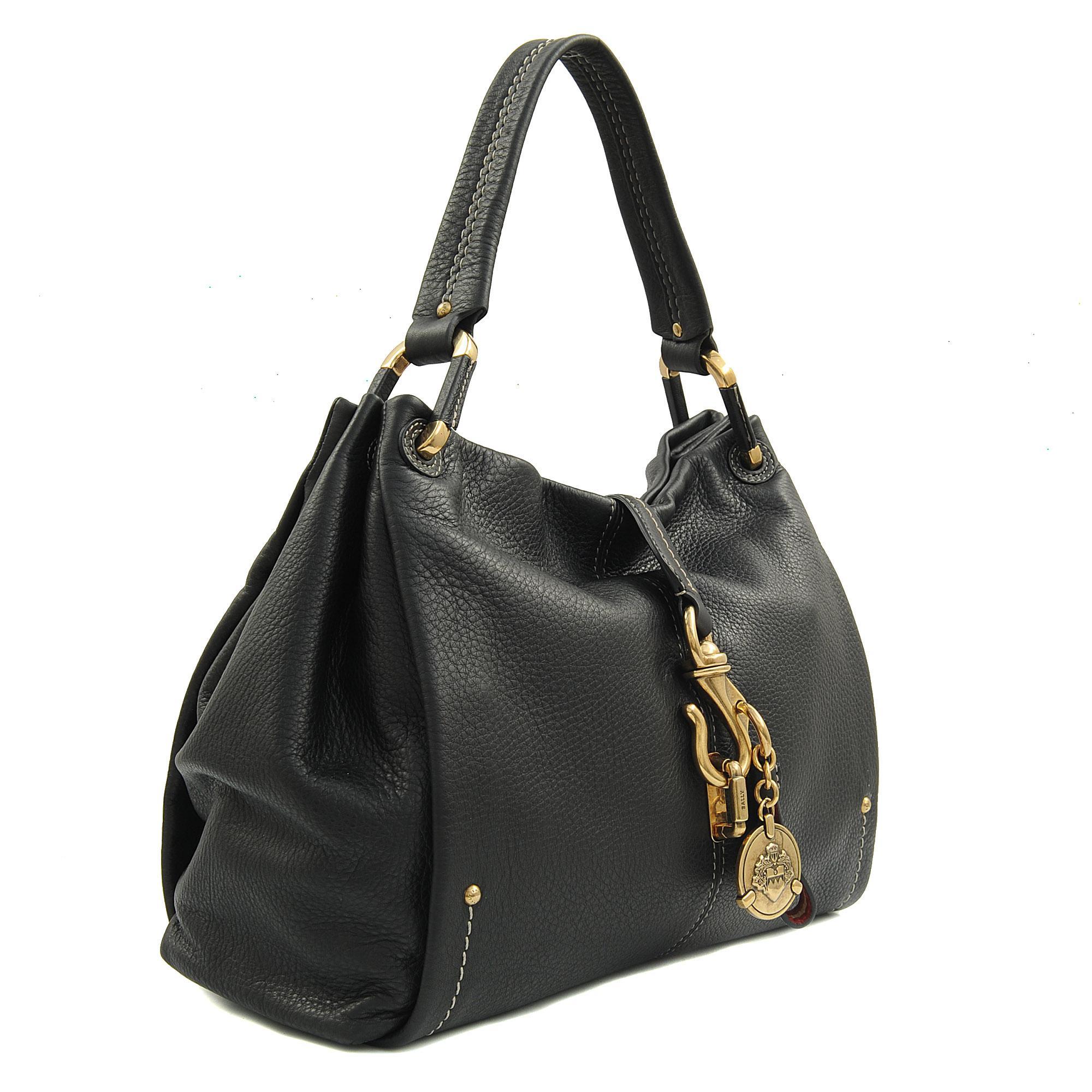 Bally Merli Hobo Bag In Black Lyst
