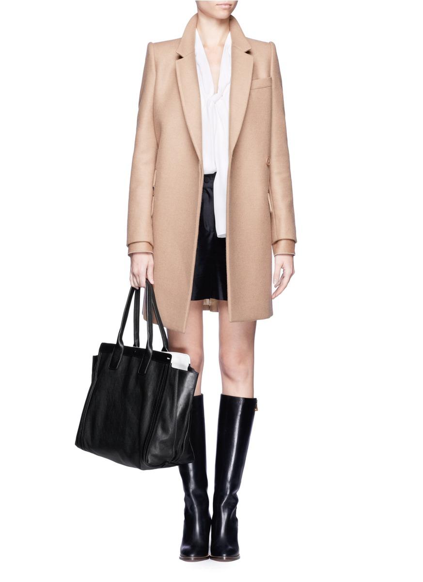 Chlo�� Alison Medium Leather Shopper Tote in Black   Lyst