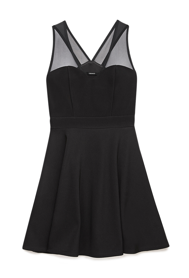 Forever 21 Fancy Mesh Dress In Black Lyst