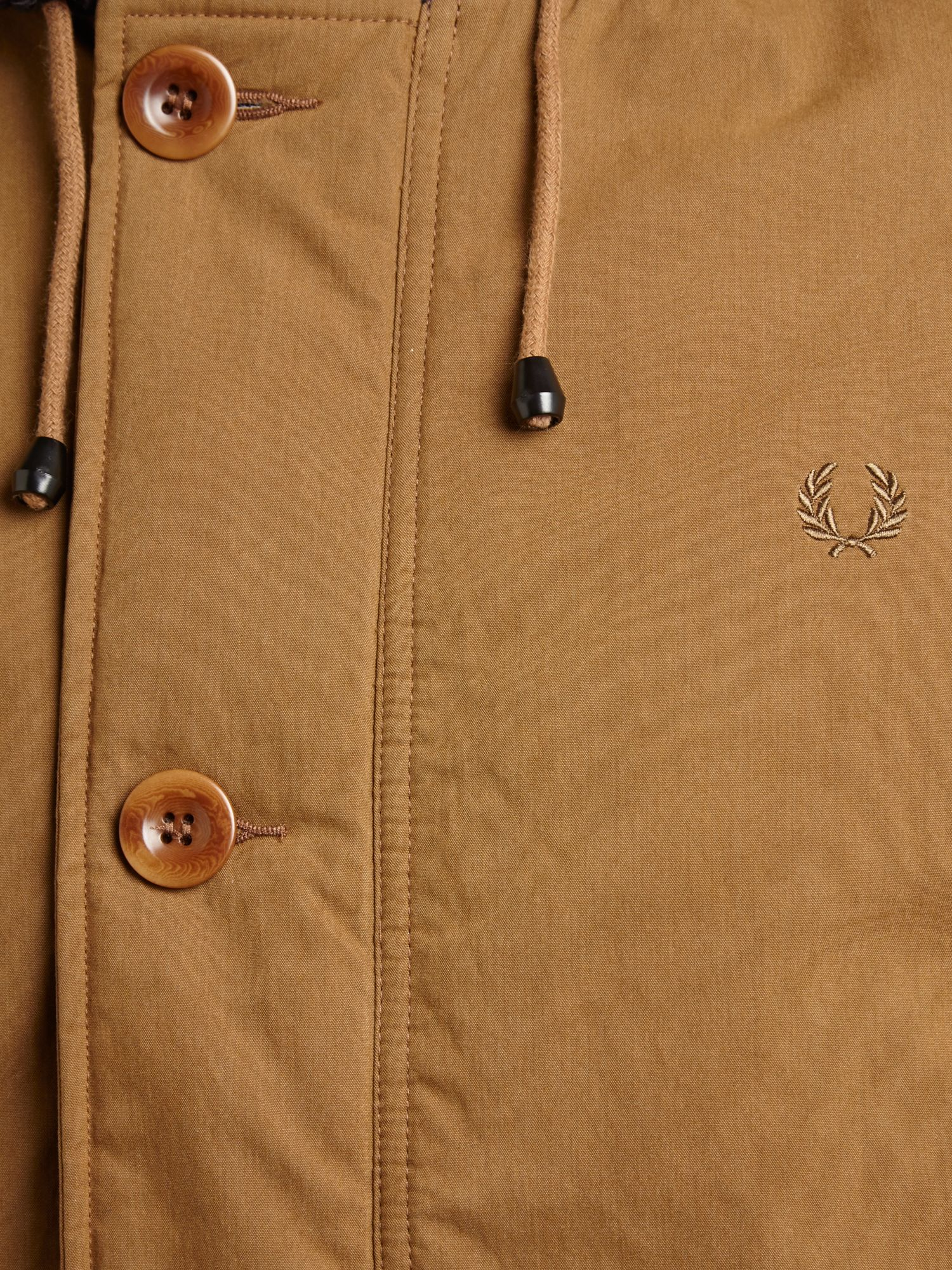Fred Perry Quilted Parker Jacket In Brown For Men Lyst
