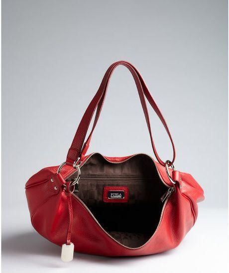 Furla Black Pebbled Leather 'Danielle L Hobo' Shoulder Bag 92
