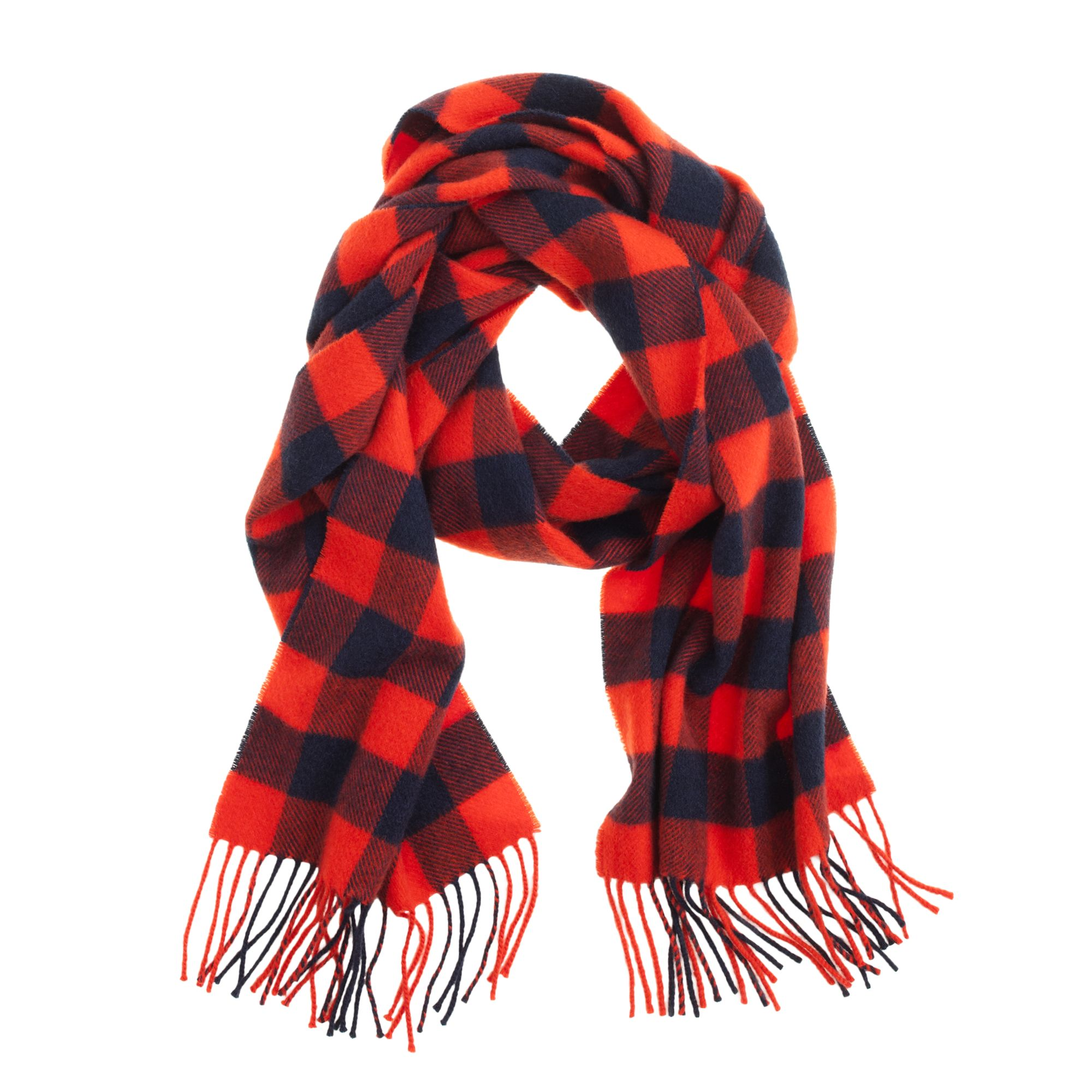 What plaid scarves are in