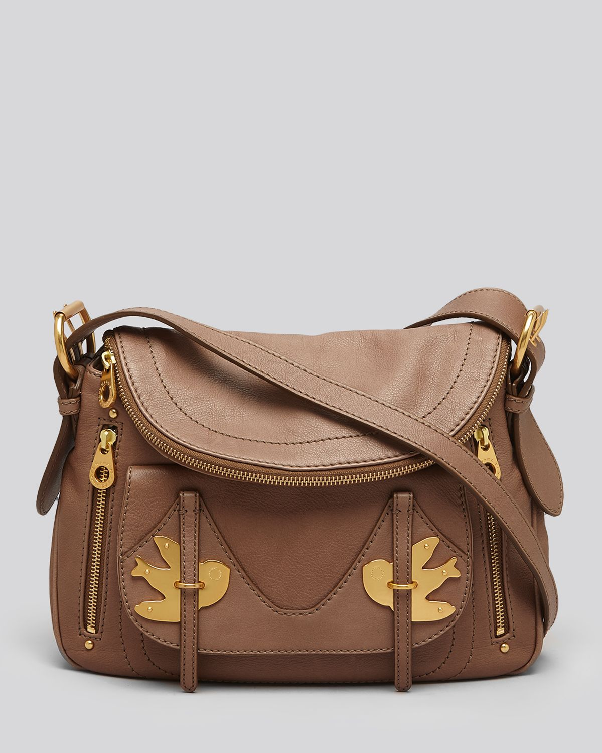 marc by marc jacobs petal to the metal natasha crossbody in red rootbeer lyst. Black Bedroom Furniture Sets. Home Design Ideas