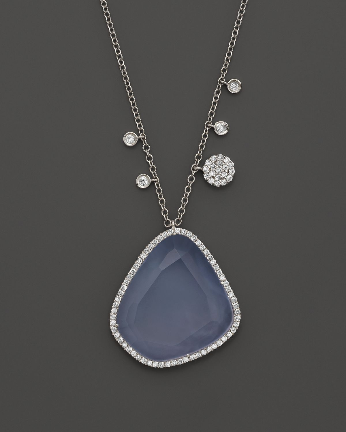meira t and chalcedony necklace in 14k white gold