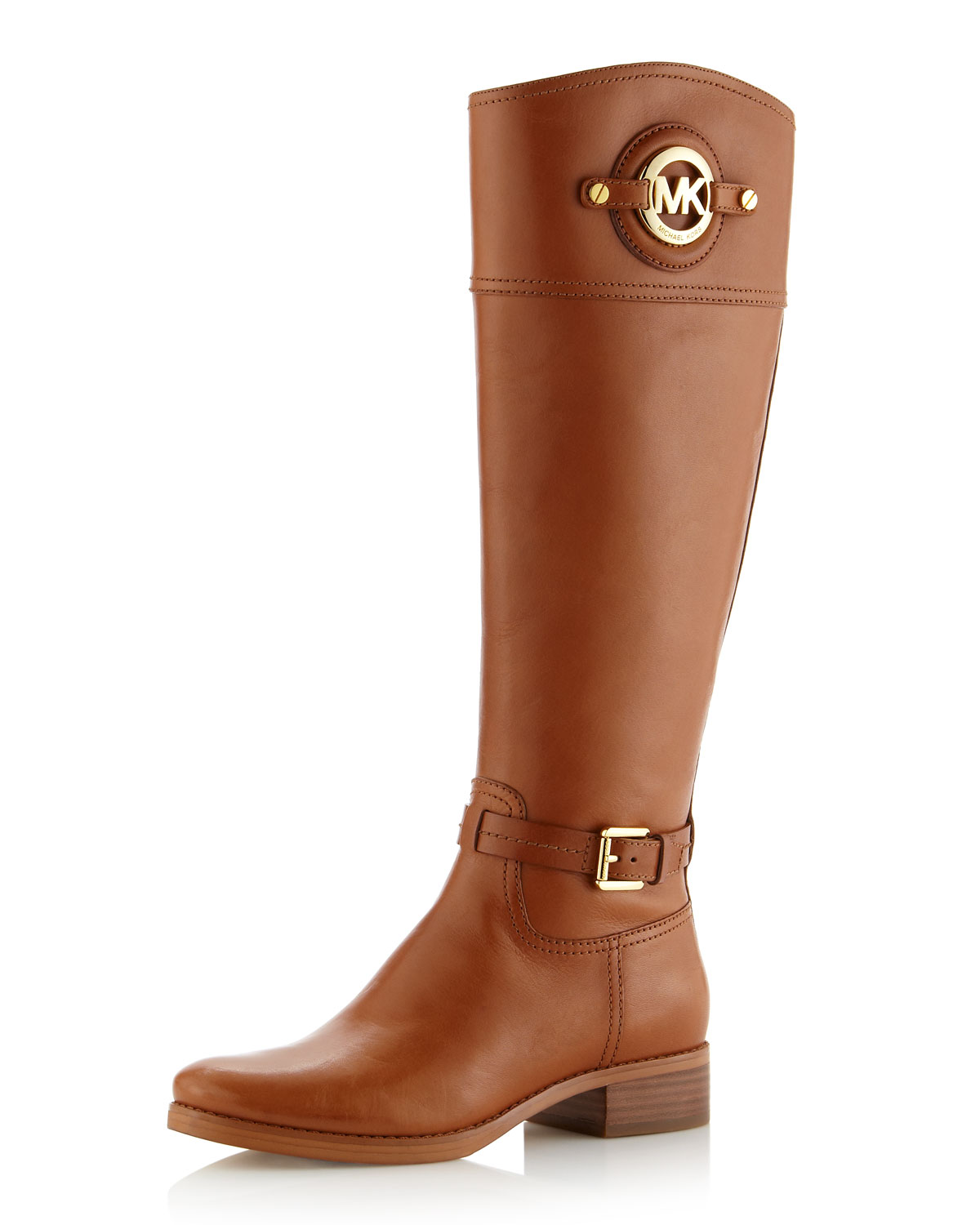 Michael michael kors Stockard Leather Riding Boot in Brown | Lyst