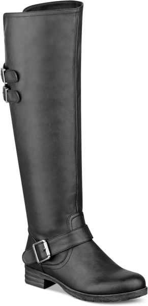 pink and pepper tahira the knee boots in black lyst