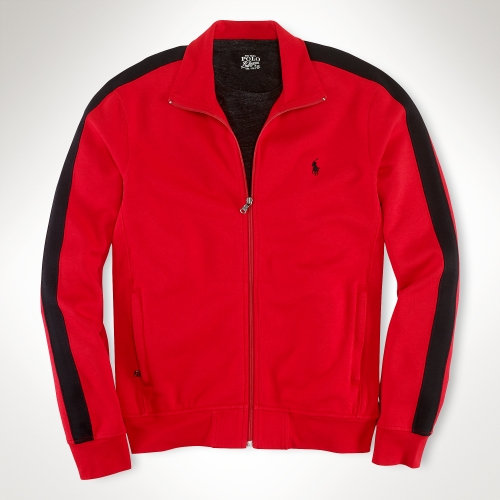 Polo Ralph Lauren Estate Fleece Track Jacket In Red For