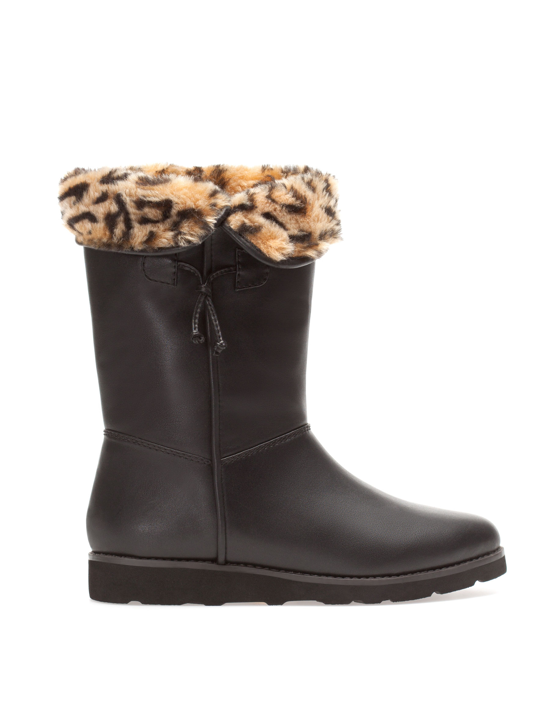 Pull Amp Bear Leopard Print Boots In Brown Black Lyst