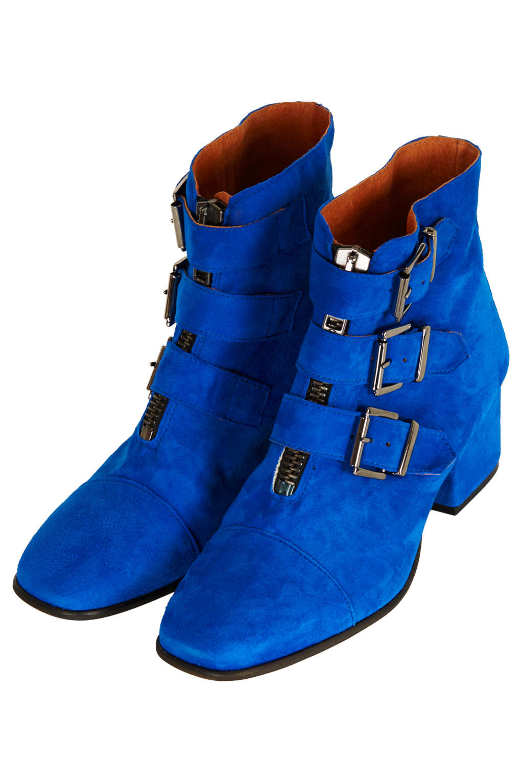 Blue Ankle Boots - Boot Hto