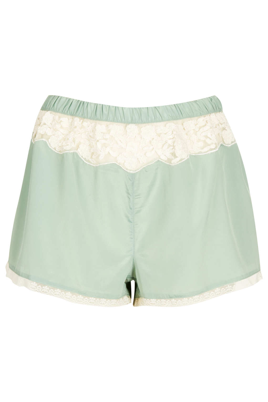Lyst Topshop Vintage Style Pyjama Shorts In Green