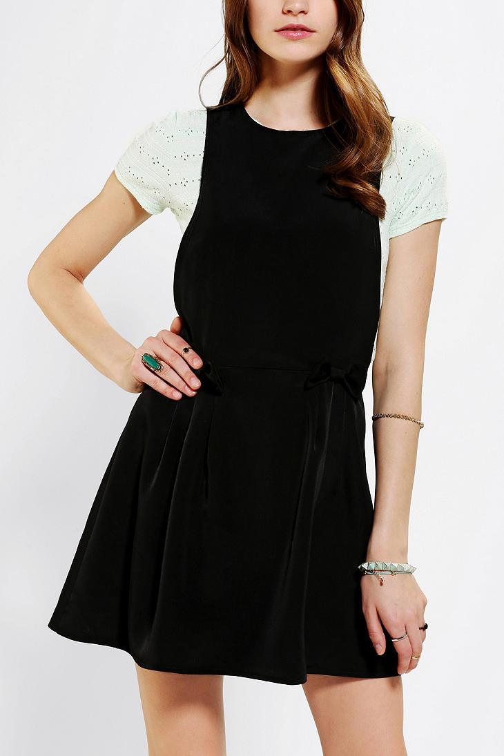 urban outfitters urban renewal school girl dress in black