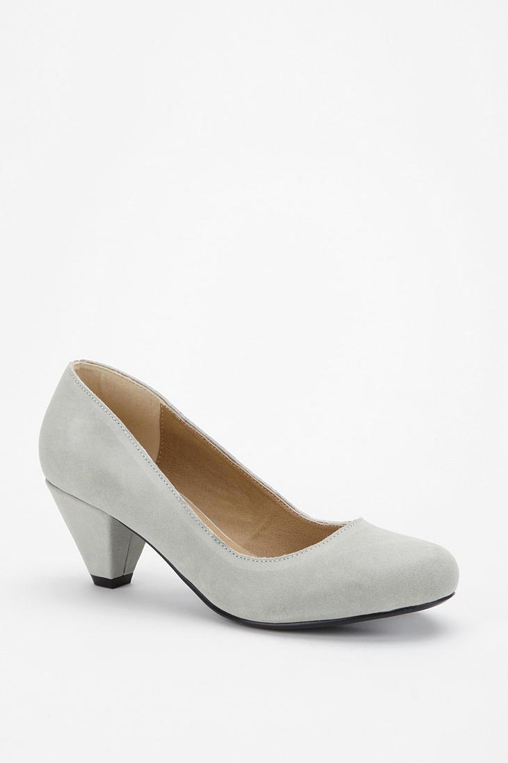 Gray Kitten Heels