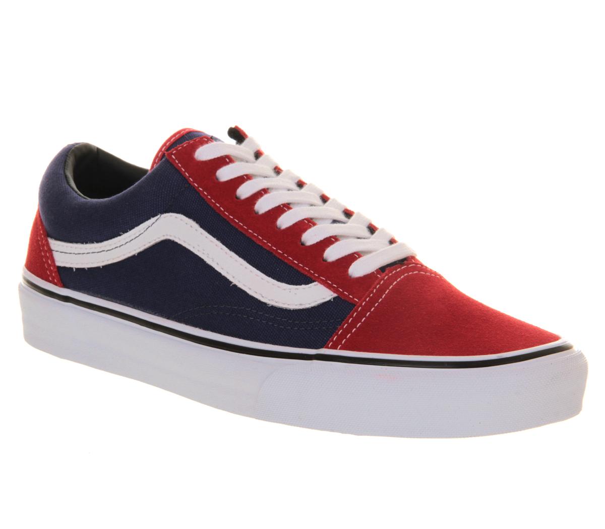 red old skool vans shoes men