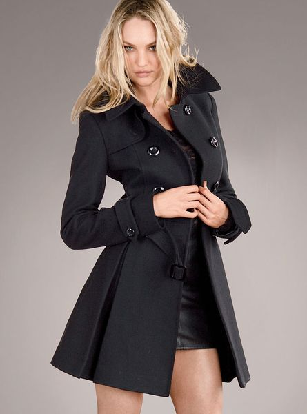Victoria S Secret The Wool Trench Coat In Black Lyst
