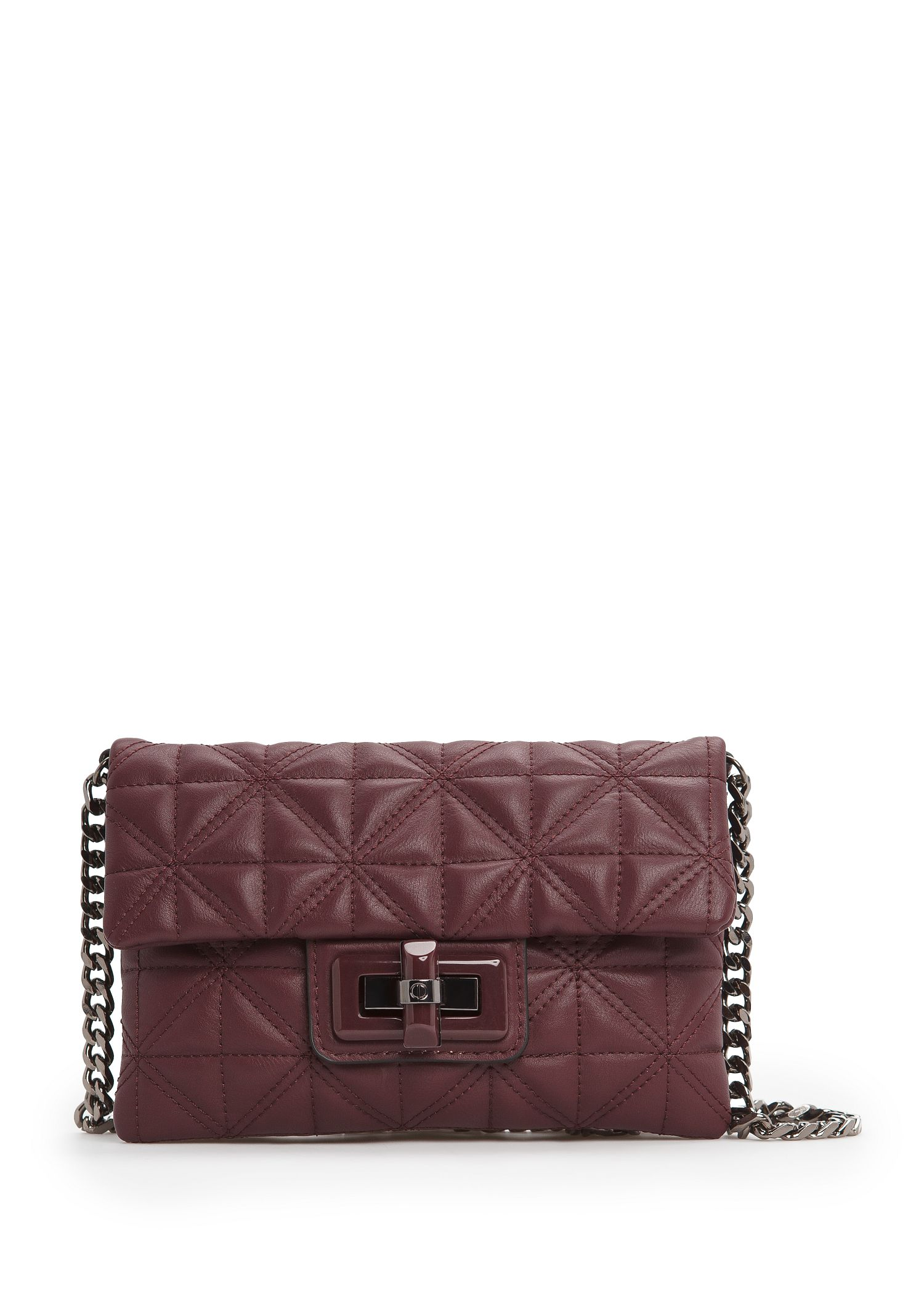 Mango Quilted Small Shoulder Bag in Purple | Lyst