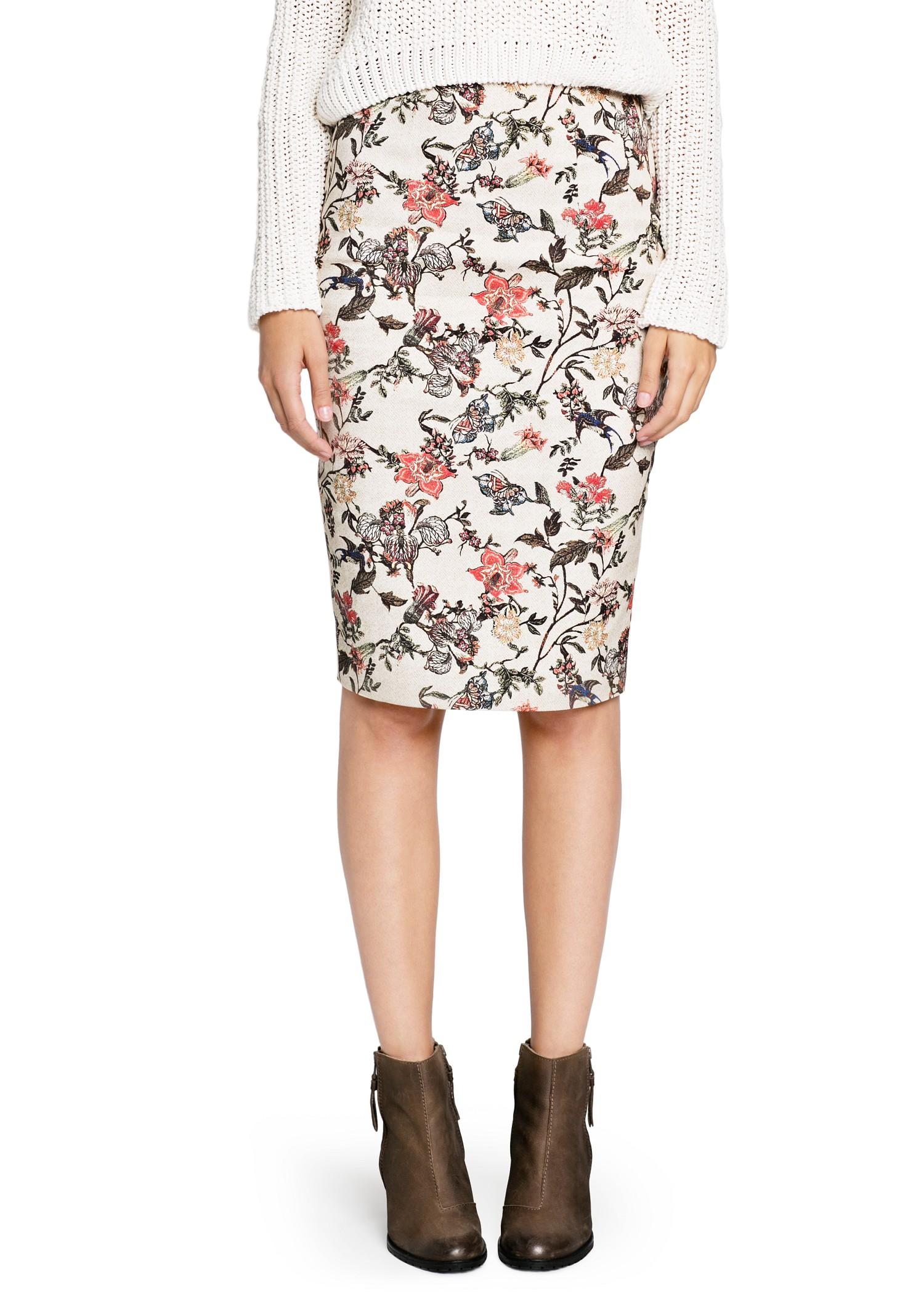 floral pencil skirt - photo #11