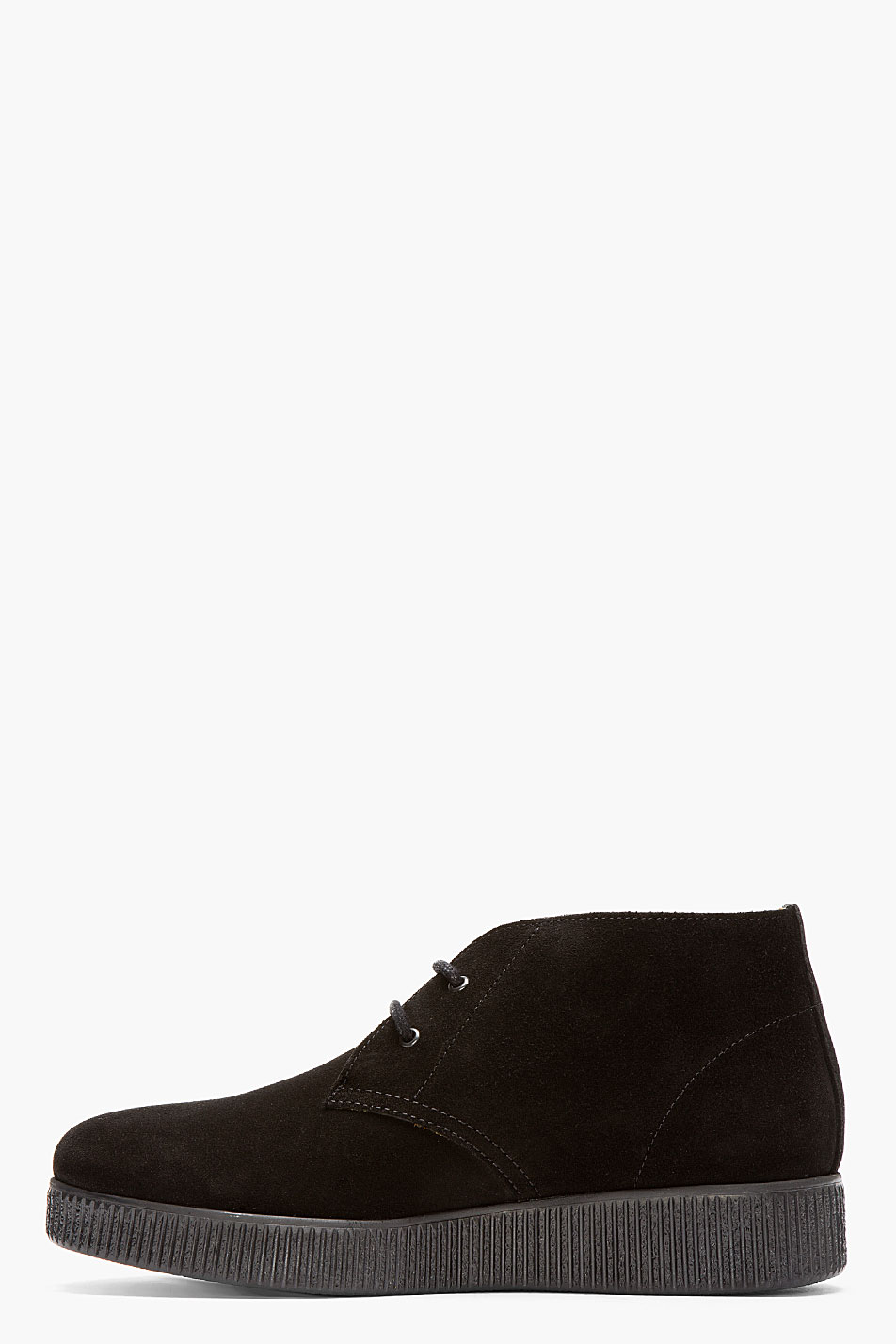 a p c black suede desert boots in black for lyst