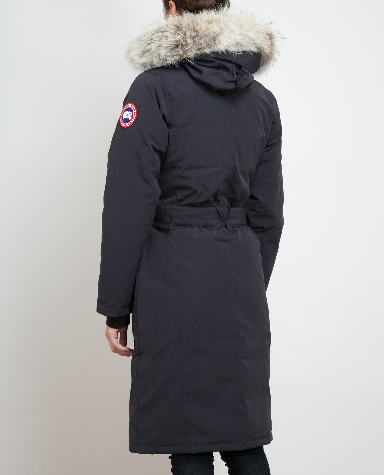 canada goose whistler duckdown belted bomber coat in black lyst rh lyst co uk