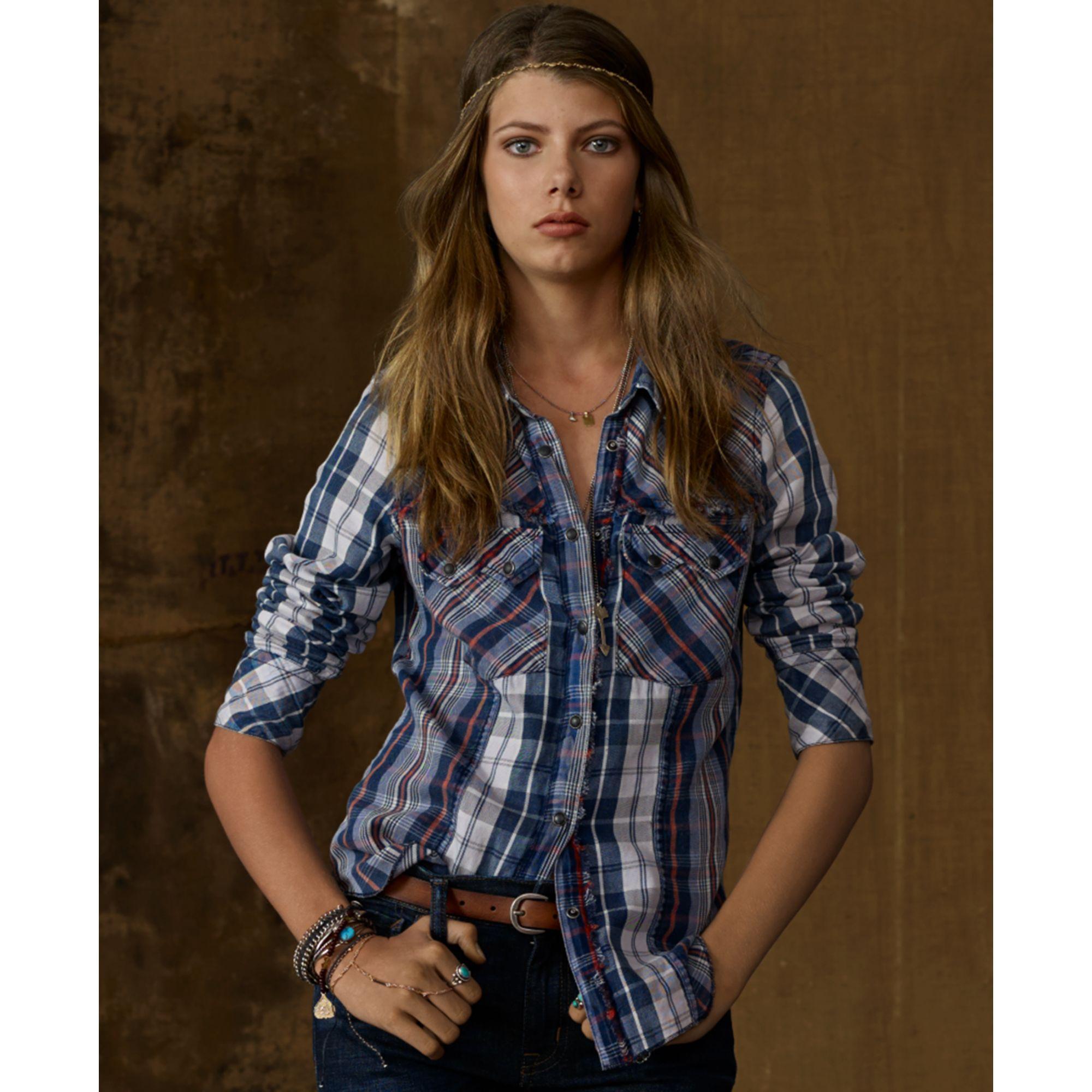 Denim  Supply Ralph Lauren Longsleeve Plaid Flannel Shirt -8175