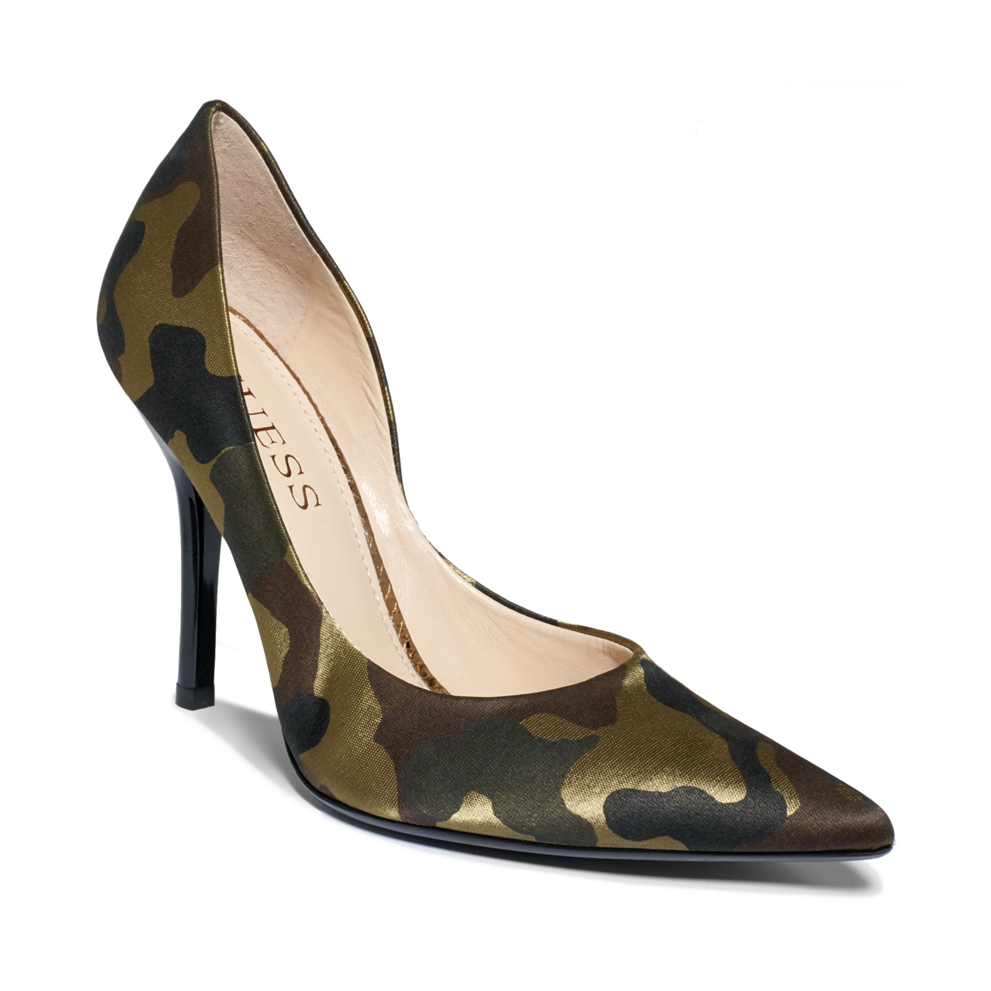 Lyst Guess Womens Shoes Carrie Pumps In Green