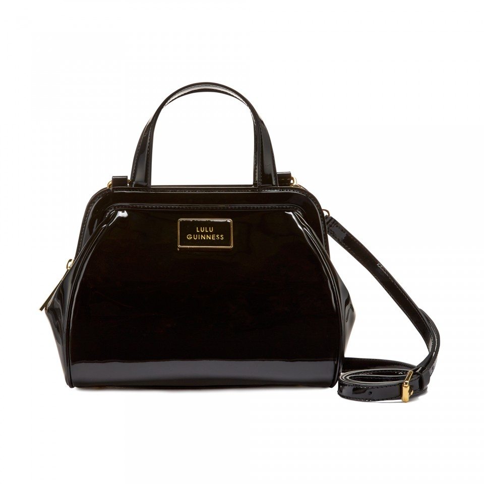 b78f9fa3dc Lulu Guinness Black Patent Leather Small Paula in Black - Lyst