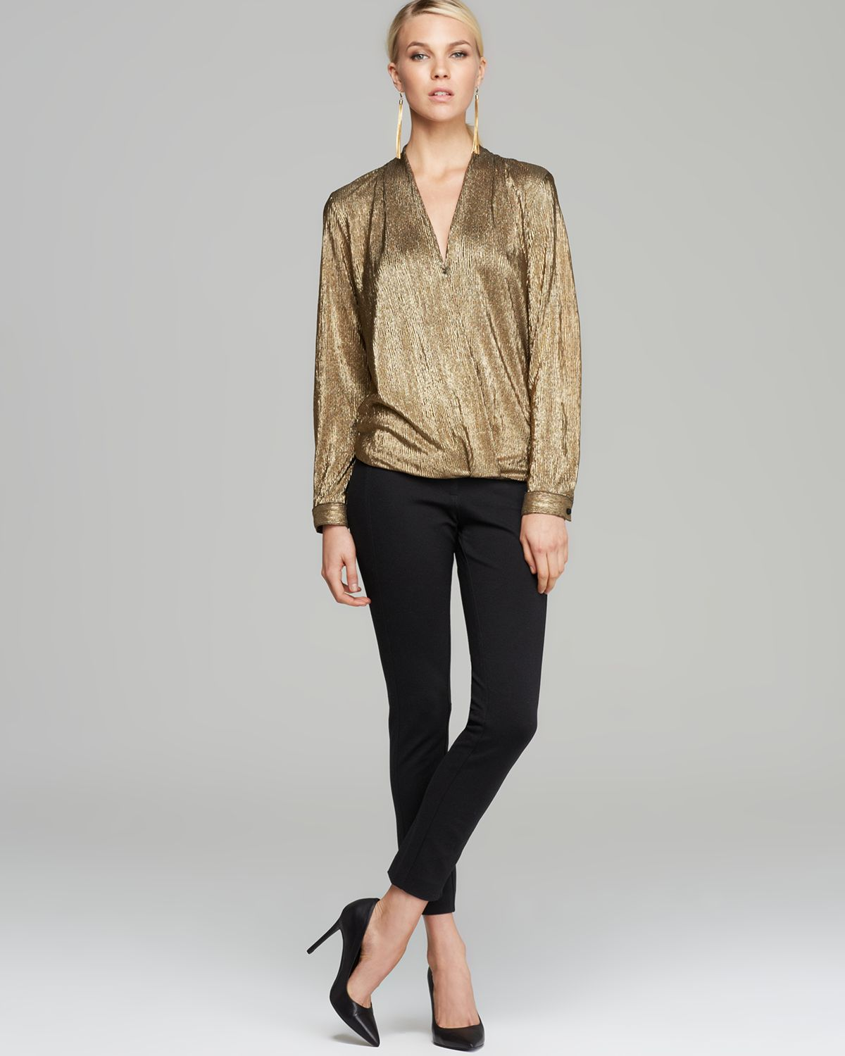 Sam & lavi Blouse Wynter Metallic in Metallic | Lyst
