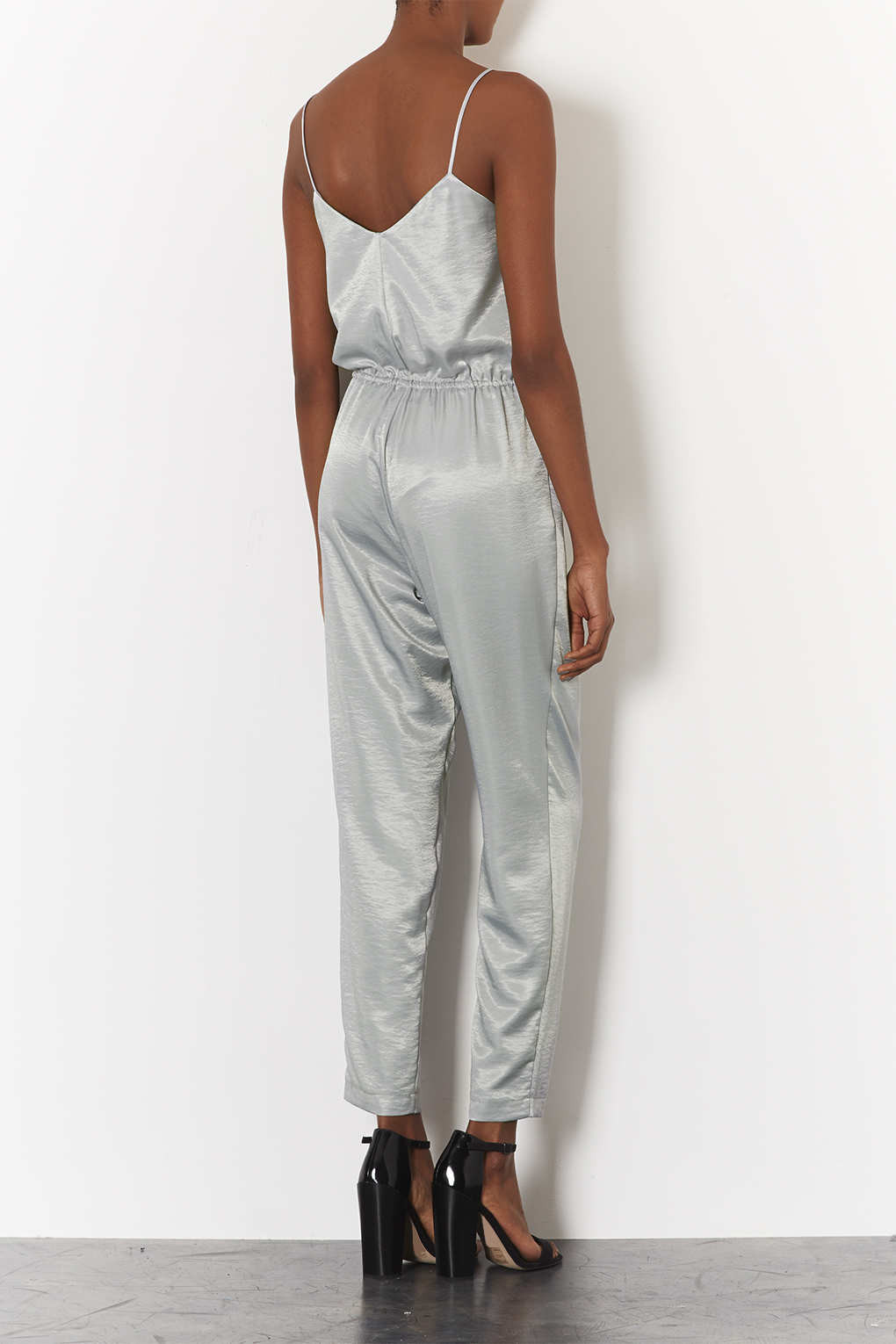 Topshop Silver Jumpsuit Fashion Ql