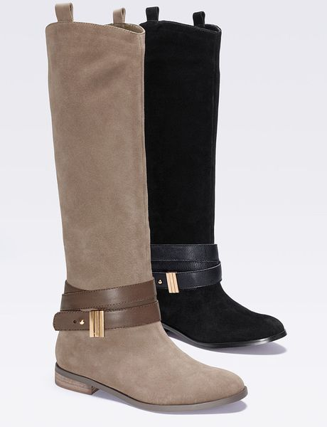 Victoriau0026#39;s Secret Belted Boot In Brown (over The Taupe) | Lyst
