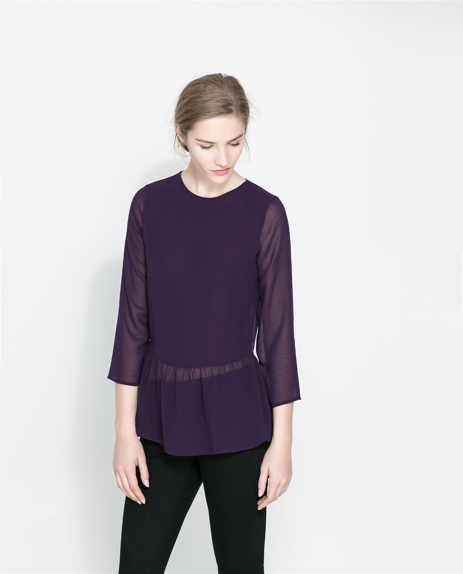 Zara Purple Blouse 62