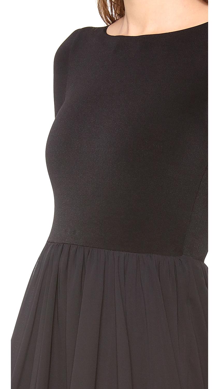 Black long sleeve babydoll dress