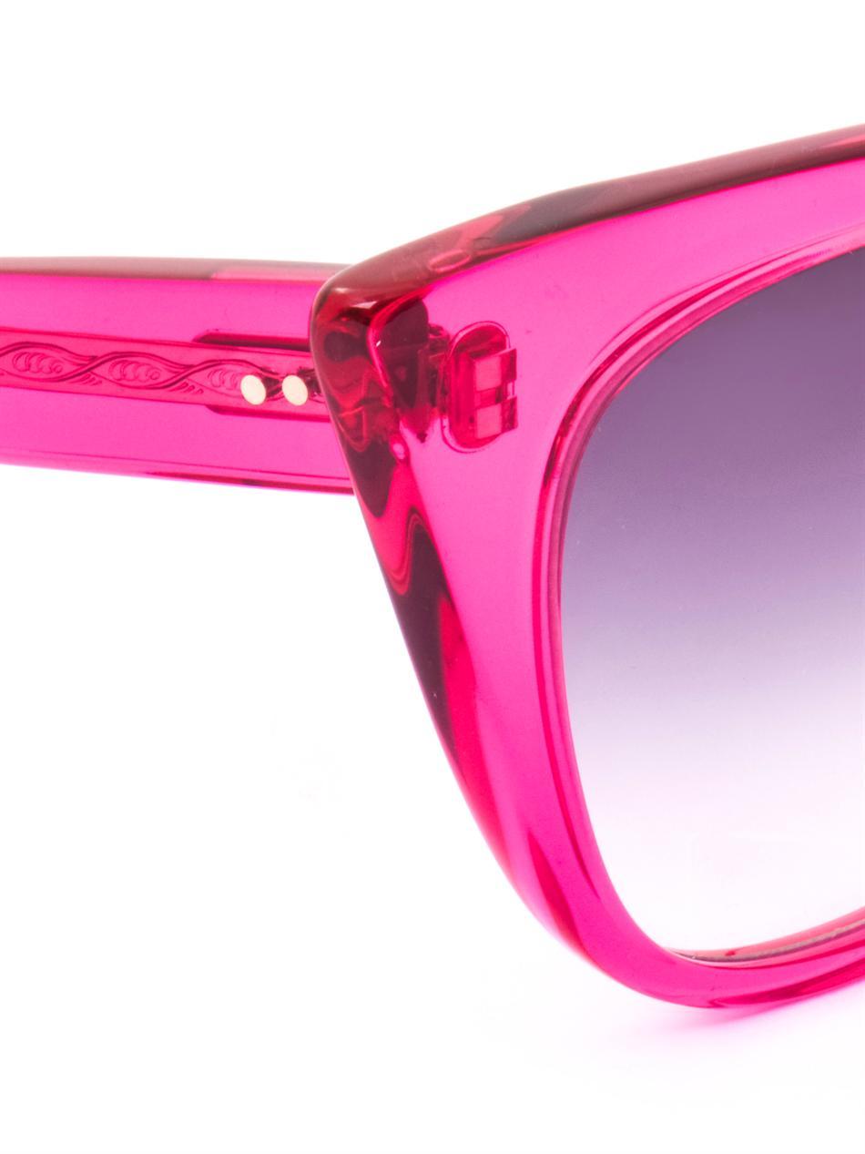3418c8a00bf9 Lyst - Dita Eyewear Magnifique Sunglasses in Pink