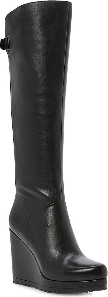 Dune Tanka Knee-high Wedge Boots in