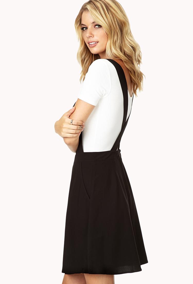 Lyst Forever 21 Contemporary Sleek Skater Overall Dress