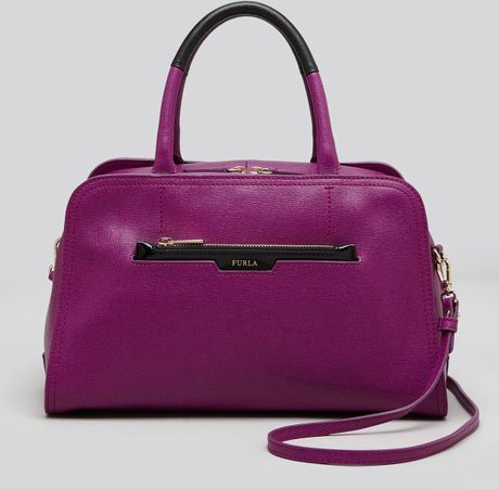 Furla Satchel Diamante in Purple (Bouganville/Onyx)