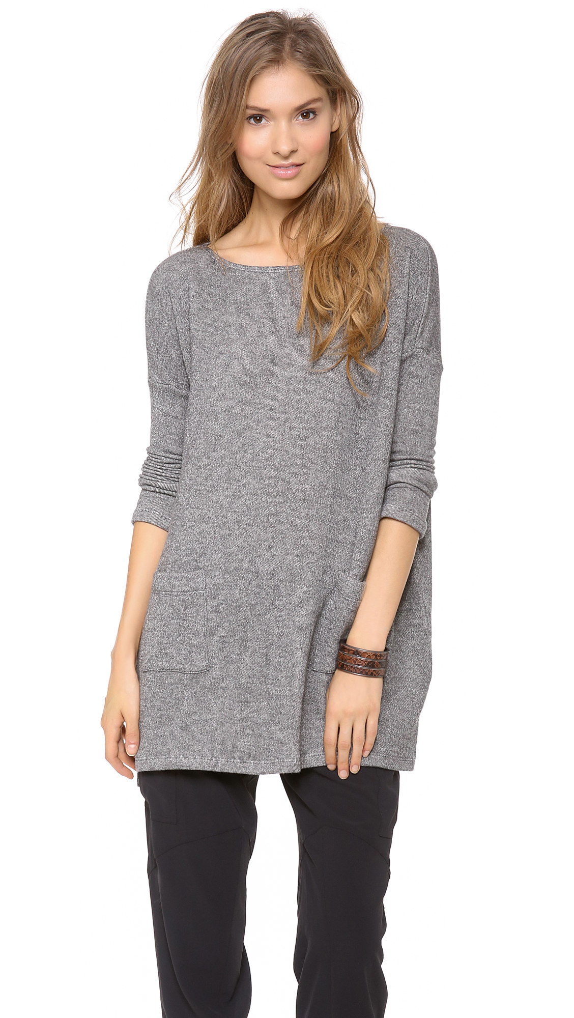 Hatch The Bateau Top in Gray (Charcoal)