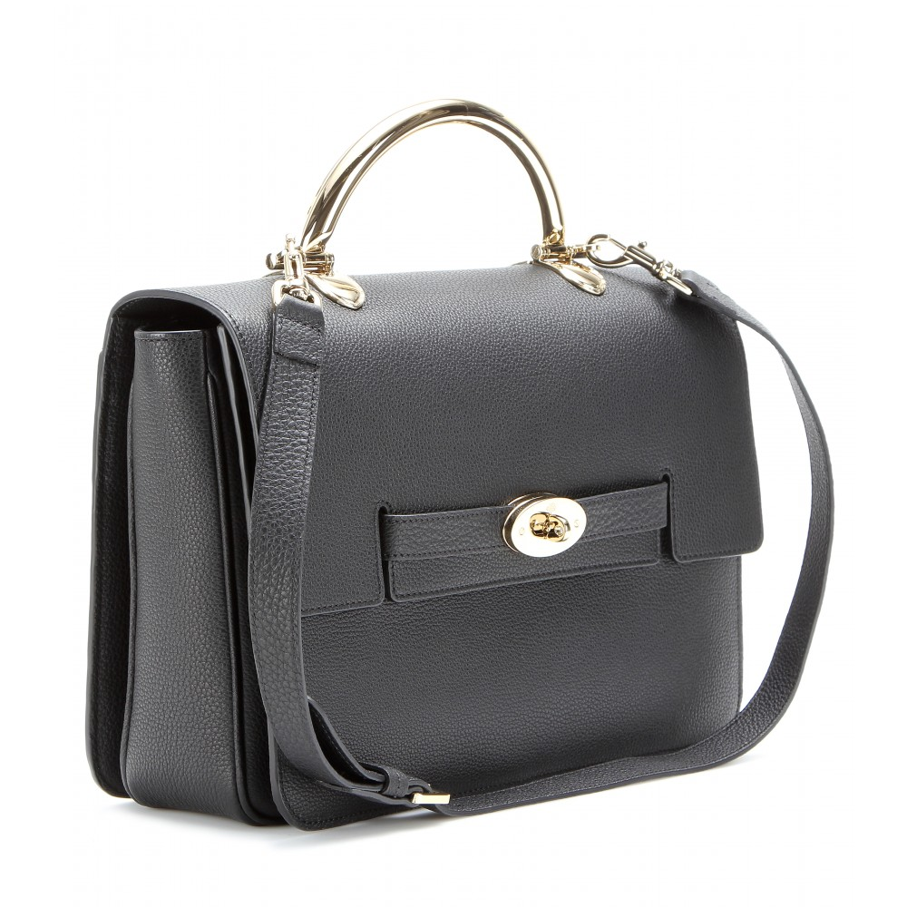 Mulberry black the bayswater shoulder leather bag lyst for The bayswater