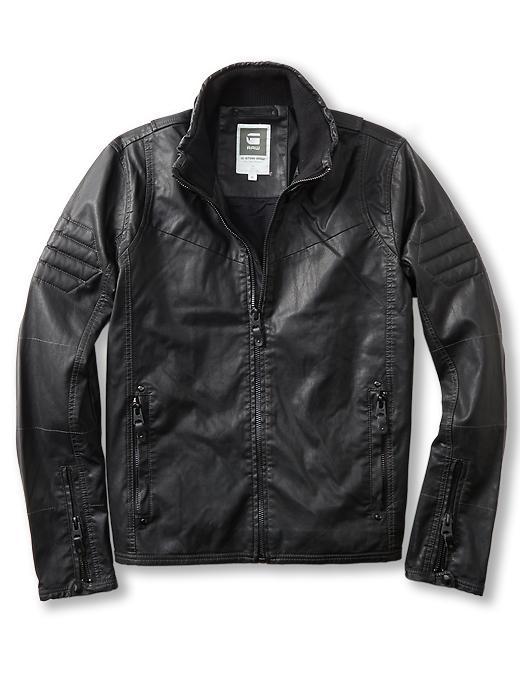 G Star Raw Branco Pleather Jacket In Black For Men Lyst