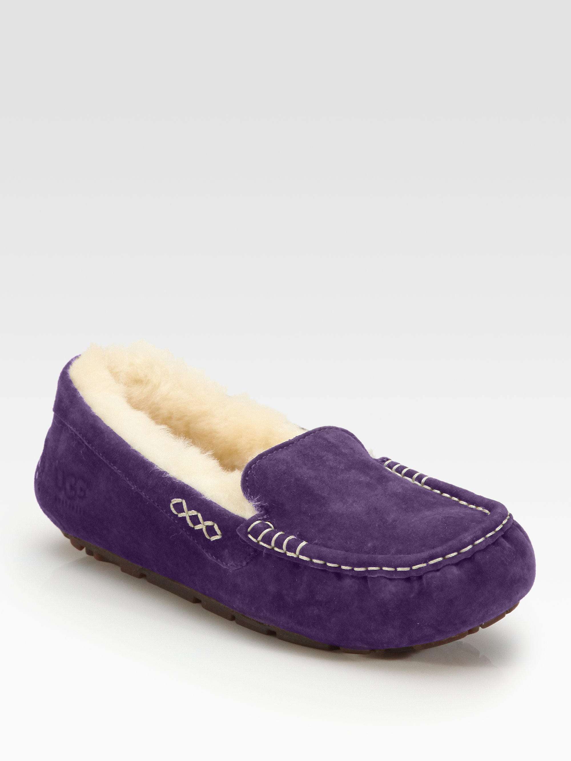 Ugg Ansley Suede Slippers In Purple Lyst