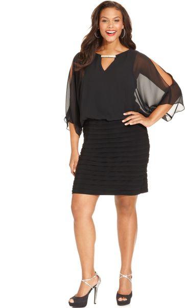 one shoulder plus length attire