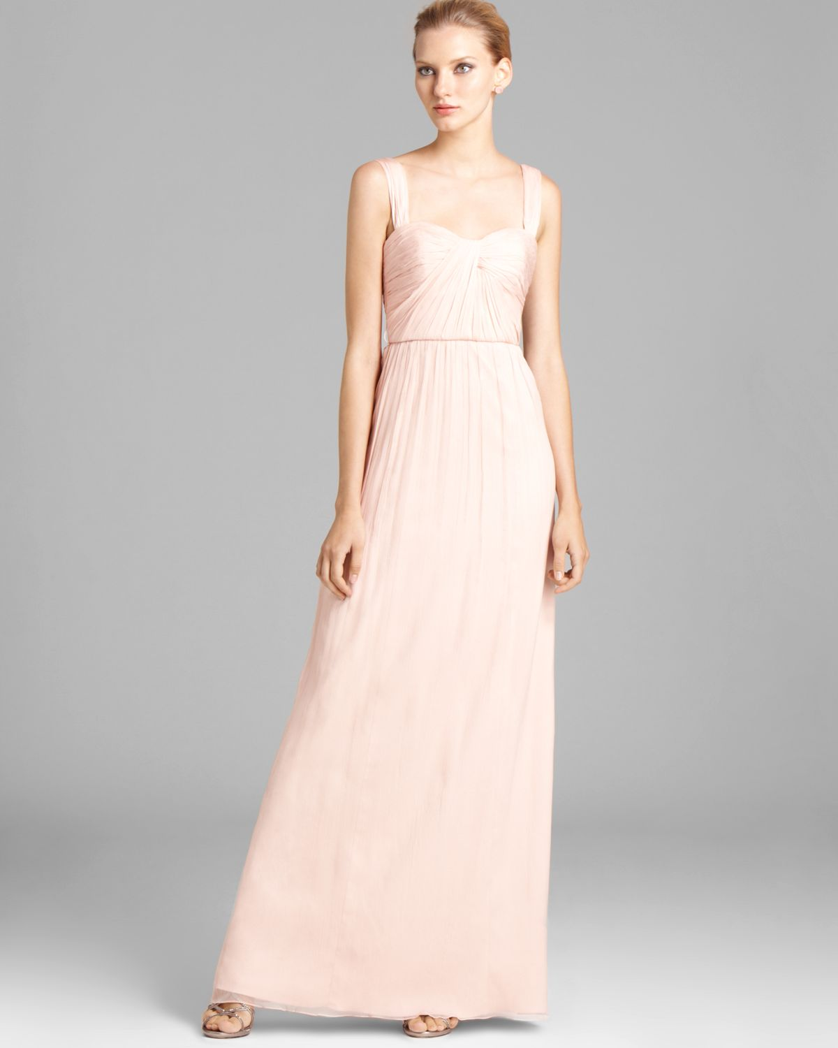 Colorful Amsale One Shoulder Chiffon Gown Images - Wedding and ...