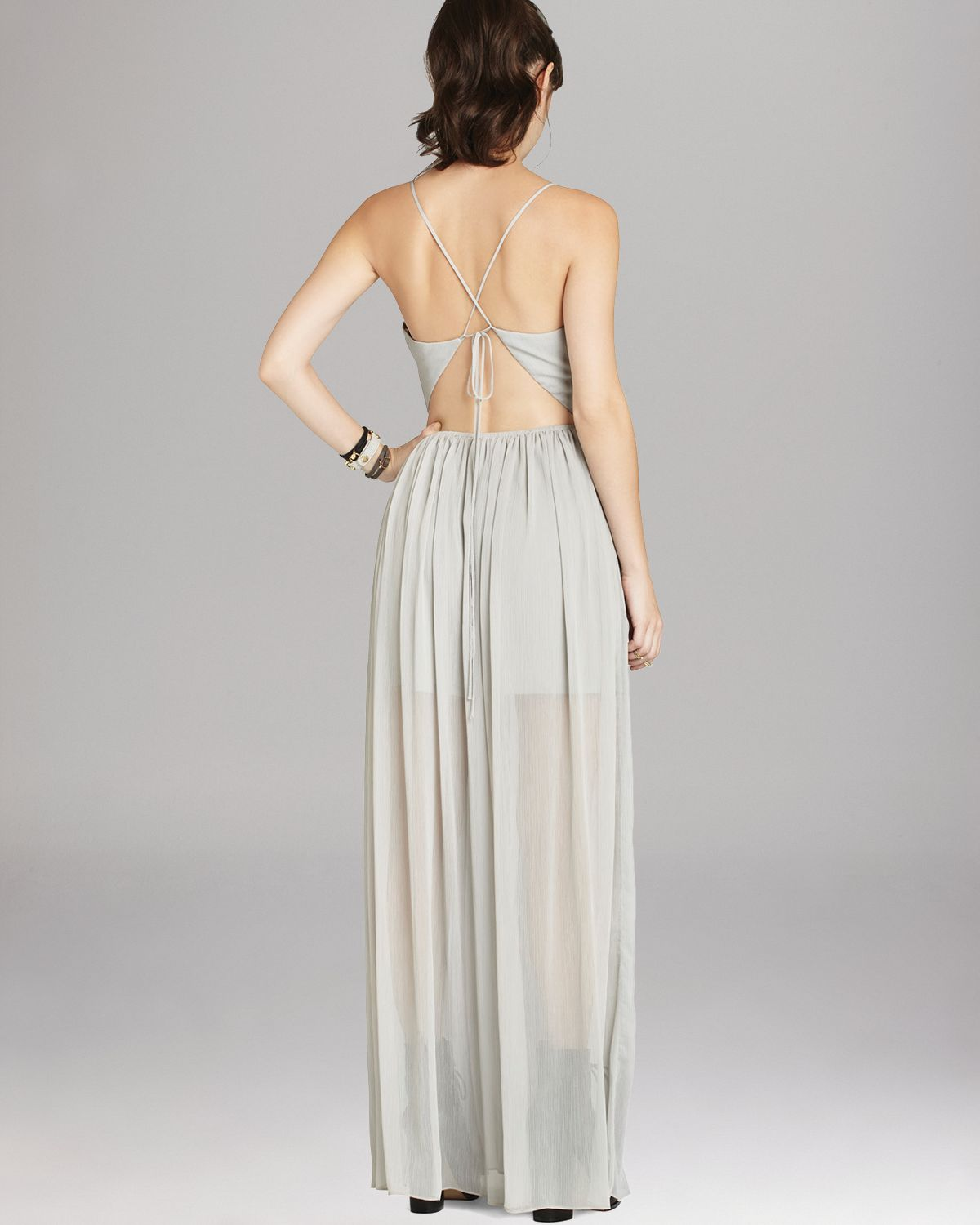Bcbgeneration gray maxi dress