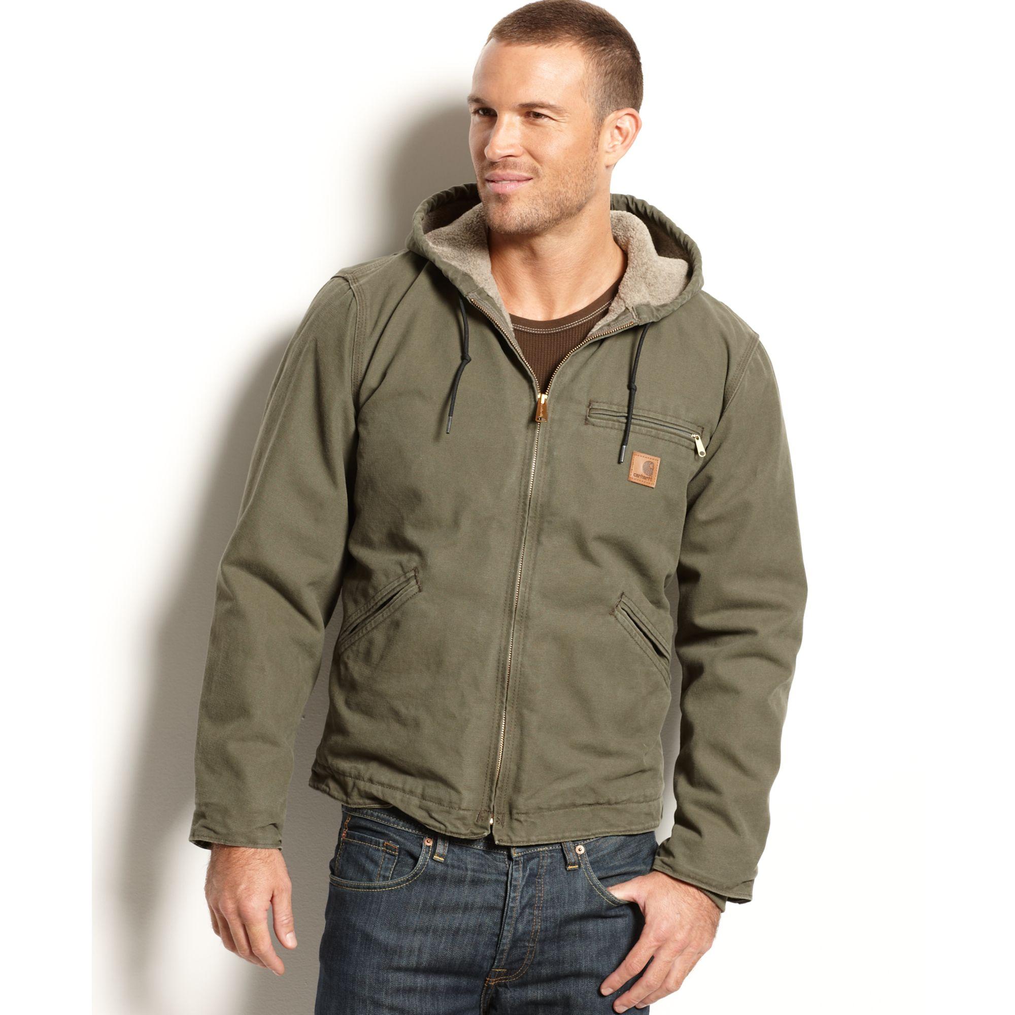 Lyst Carhartt Sandstone Duck Sierra Jacket In Green For Men