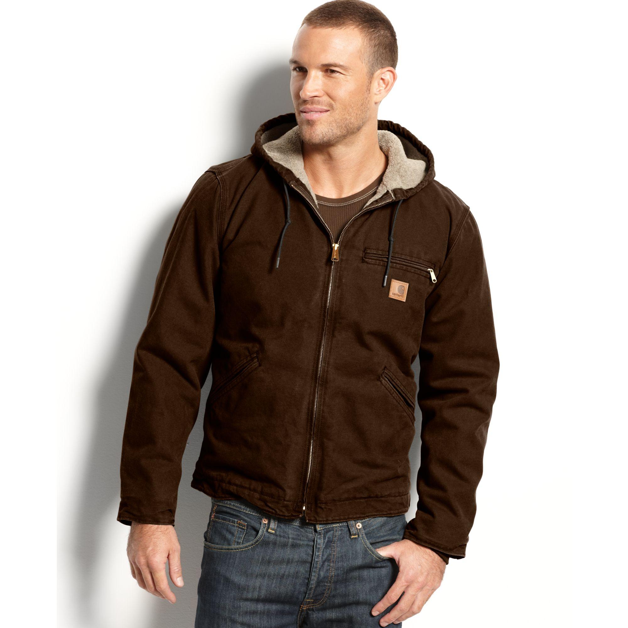 Womens dark brown carhartt jacket