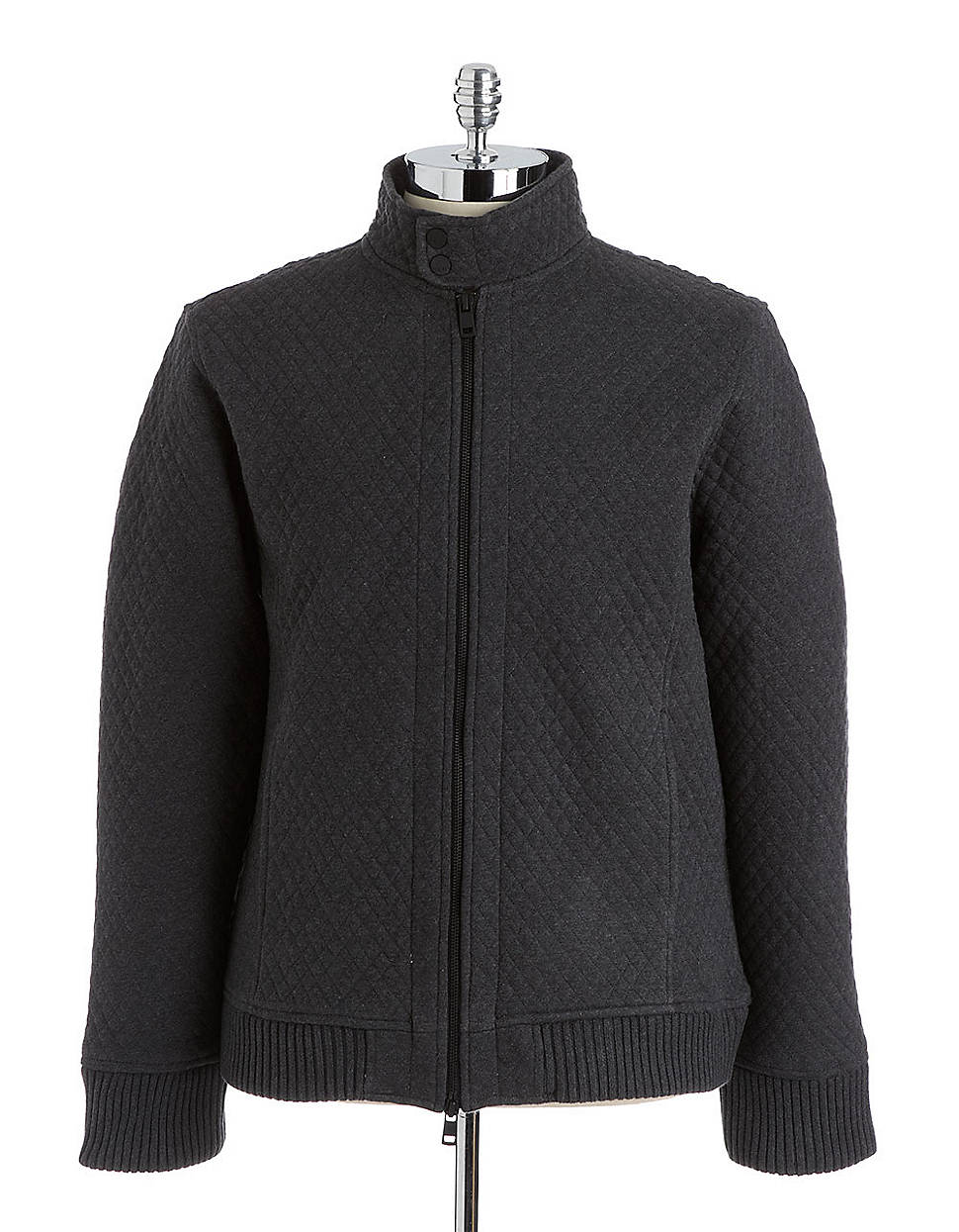 Dkny Quilted Cotton Bomber Jacket In Gray For Men Grey