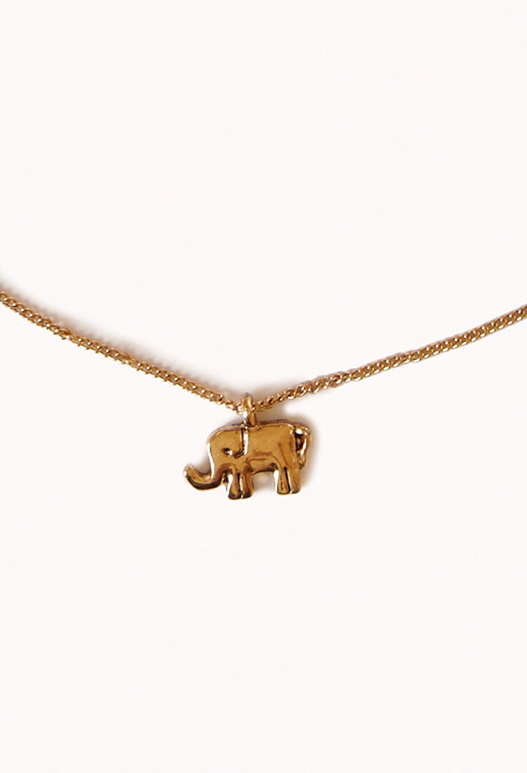 Elephant Charm Necklace Forever