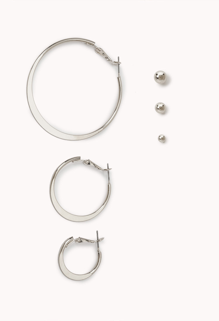 Lyst forever 21 classic earrings set in metallic for Forever 21 jewelry earrings